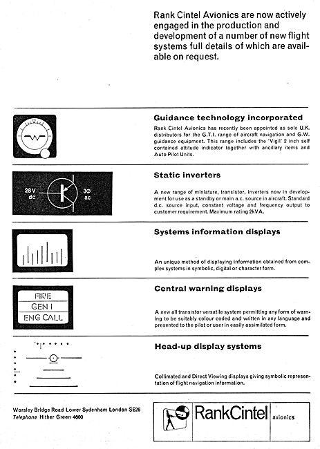 Rank Cintel Avionics & Electronics - Head Up Displays. HUD