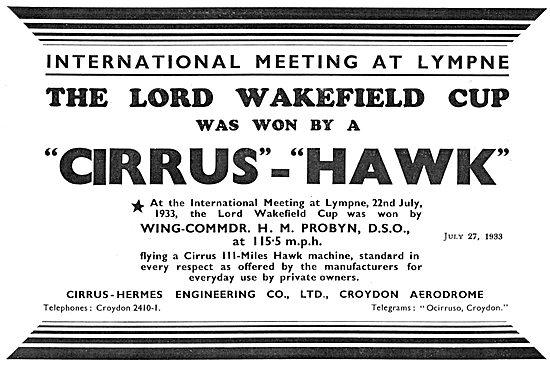 Cirrus Hermes IV Miles Hawk