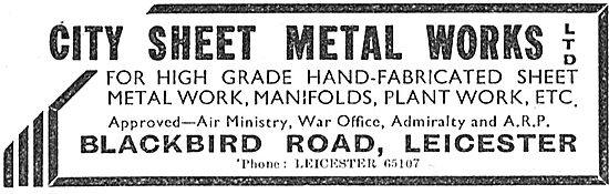 City Sheet Metal Works. Blackbird Rd, Leicester. Sheet Metal Work