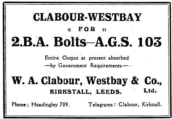 Clabour Westbay: Kirkstall. Bolts & AGS For Aircraft Contsructors