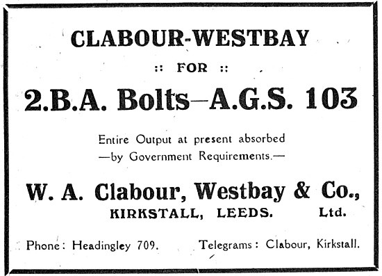 Clabour-Westbay: Bolts & AGS For Aircraft Contsructors