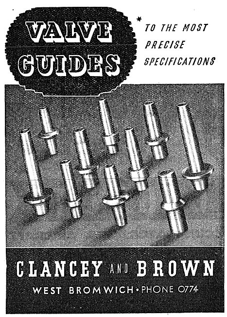Clancey & Brown Engineers. West Bromwich. Valve Guides
