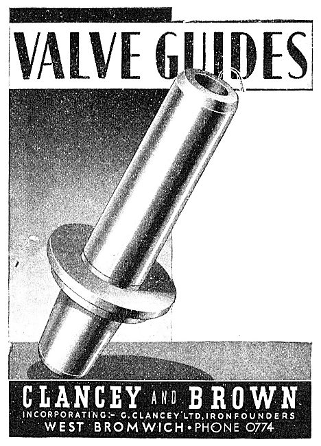Clancey & Brown Engineers. Valve Guides
