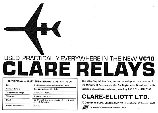 Clare-Elliott. Clare Sub-Miniature TYpe F Relay.