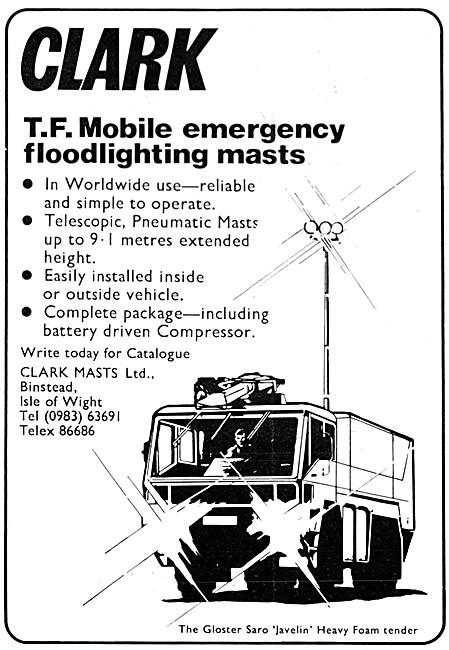Clark Masts. T.F. Mobile Emeregency Floodlighting Masts