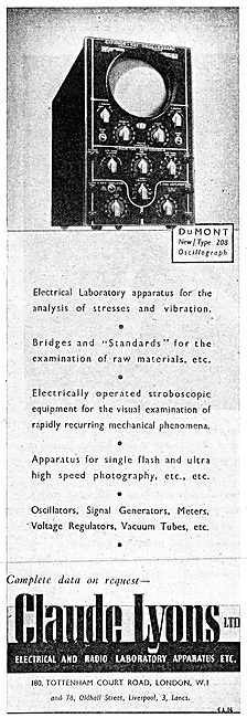 Claude Lyons Ltd. Electrical & Radio Laboratory Apparatus 1942