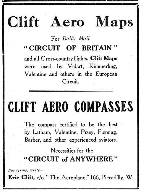 E.H.Clift Aviators' Maps & Compasses