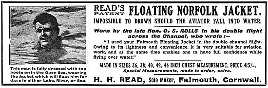 H.H.Read. Falmouth. Read's Floating Norfolk Jacket