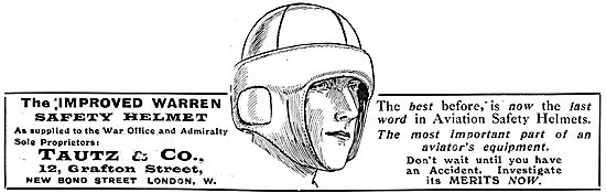 Tautz & Co Distributors For The Improved Warren Safety Helmet