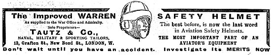 The Improved Warren Aviators Safety Helmet