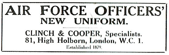 Clinch & Cooper: Air Force Officers' Uniforms