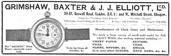 Grimshaw, Baxter & J.J.Elliott Ltd - Aquatic Wristwatch. 1918