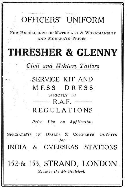 Thresher & Glenny Service Kit & Mess Dress To RAF Regulations