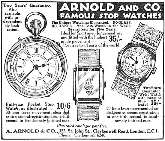 A.Arnold & Co Aircrew Stop Watches