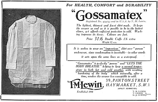 T.M.Lewin Gossamatex Shirts 1932
