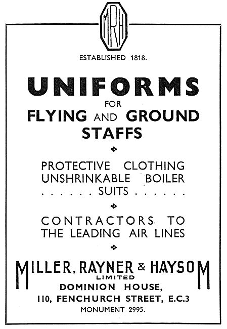 Miller, Rayner & Haysom Protective Clothing - Boiler Suits