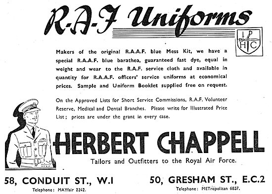 Herbert Chappell - Tailors & Outfitters To The Royal Air Force