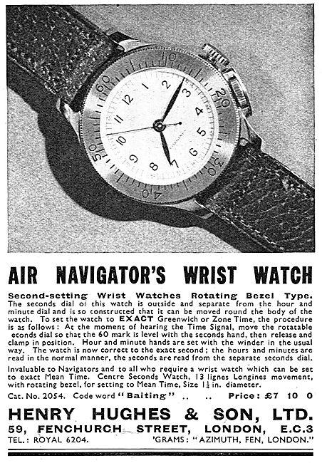 Henry Hughes & Son. Air Navigators Wrist Watch