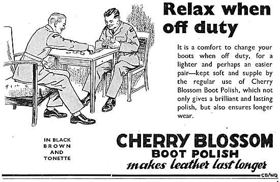 Cherry Blossom Boot Polish Wartime Advert