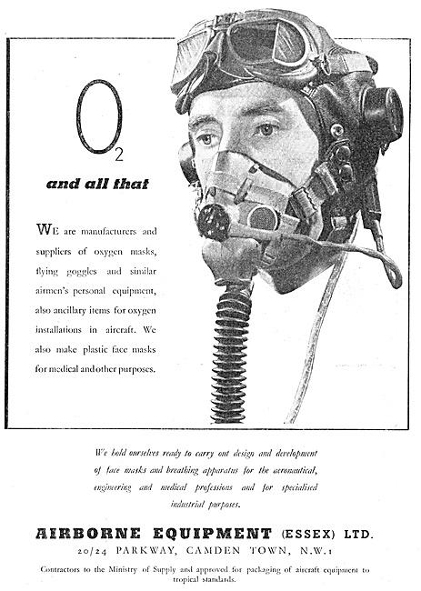Airborne Equipment. Oxygen Masks, Goggles & Personal Equipment