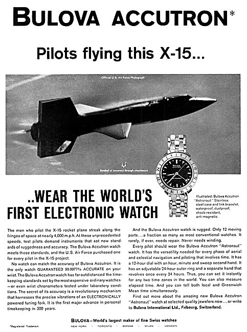 Bulova Accutron Astronaut Watch - Bulova Electronic Watch 1963