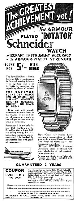 Roberts & Co Schneider Armour Rotator Wrist Watches