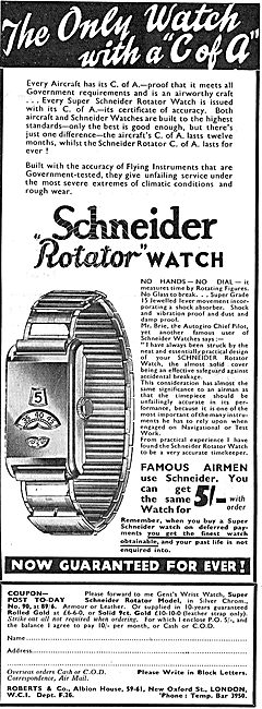 Roberts & Co Schneider Plated Rotator Watches