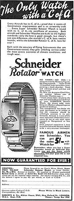 Roberts & Co Schneider Plated Rotator Watches