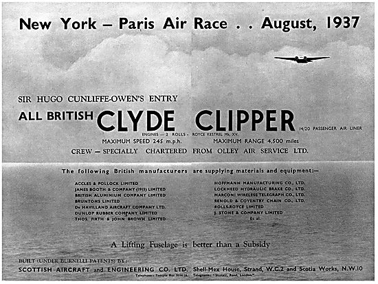 Clyde Clipper - Scottish Aircraft