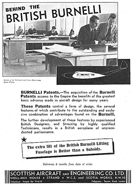 Clyde Aircraft - Clipper. British Burnelli