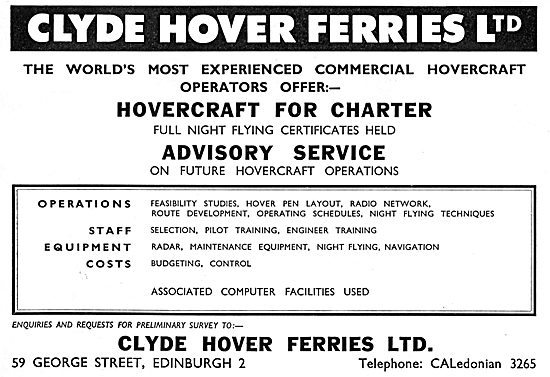 Clyde Hover Ferries