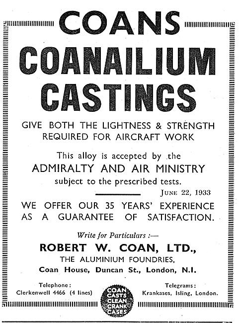 Coans Coanailium Aluminium Castings
