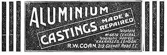 R.W.Coan Aluminium Castings For Aero Engines