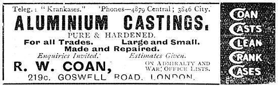 R.W.Coan. Aluminium Castings