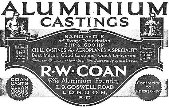 R.W.Coan Aluminium Castings For Aircraft