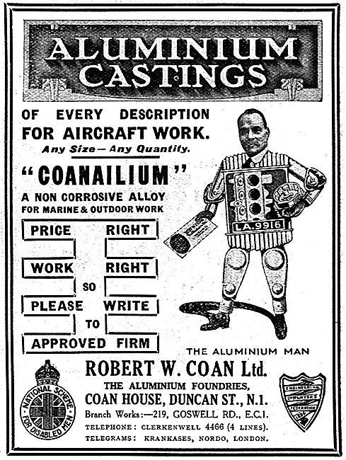 R.W. Coan Aluminium Castings For Aircraft Work