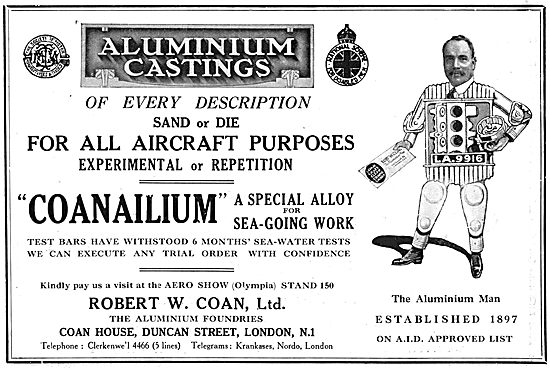 R.W.Coan Aluminium Castings. Coanalium