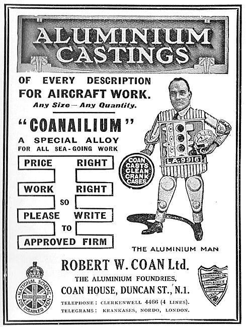 R.W.Coan. Coanalium Special Alloy.