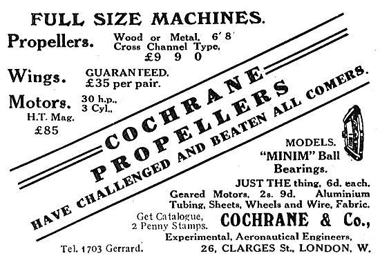 Cochrane & Co Full Size Aeroplane Components