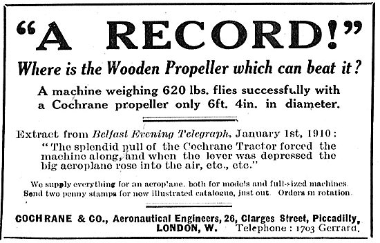 Cochrane & Co Wooden Propellers