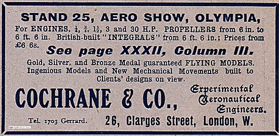 Cochrane & Co Experimental Aeronautical Engineers.