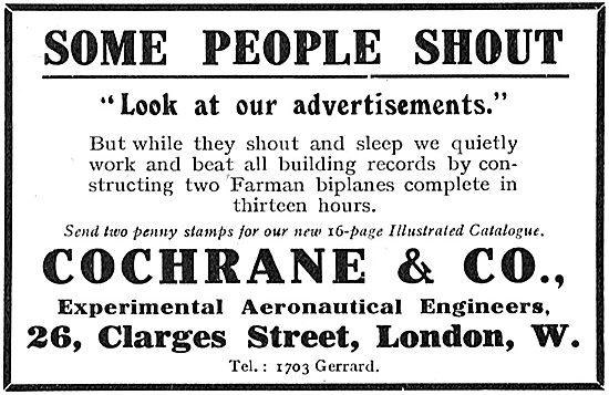 Cochrane & Co Experimental Aeronautical Engineers