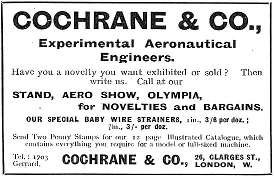 Cochrane & Co - Experimental Aeronautical Engineers