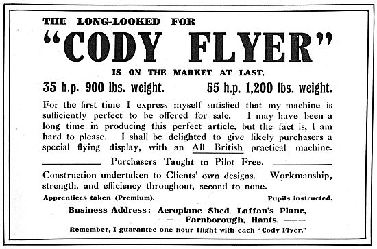 The Long Looked For Cody Flyer Is On The Market At Last.