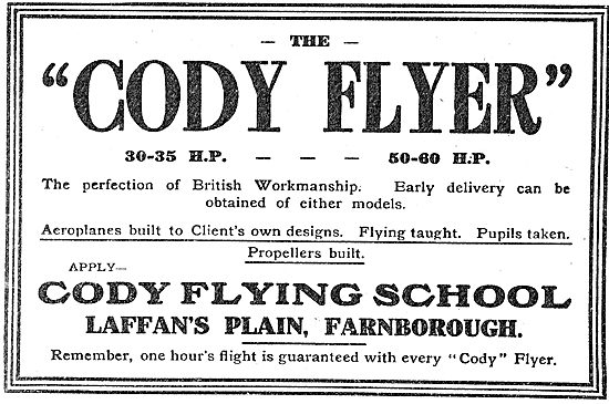 Learn To Fly At The Cody Flying School Laffan's Plain Farnborough