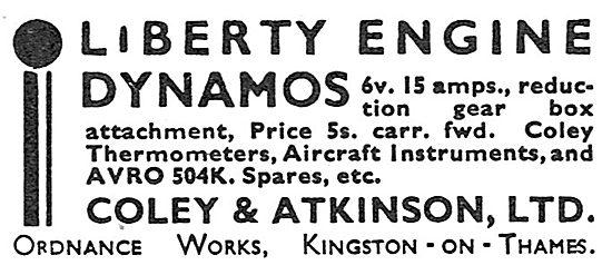 Coley & Atkinson Liberty Engine Dynamos