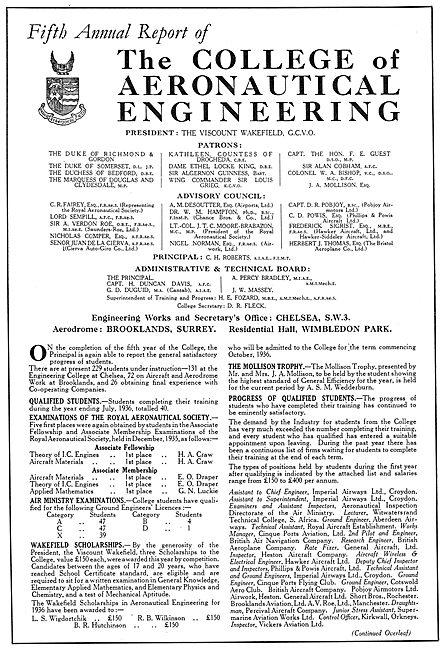The College Of Aeronautical Engineering - Brooklands