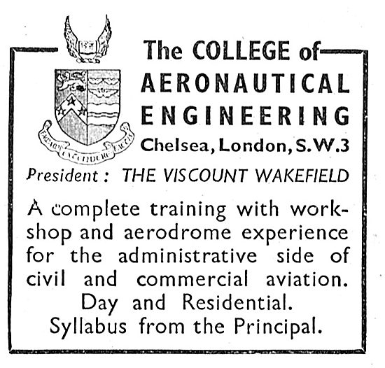 The College Of Aeronautical Engineering - Brooklands
