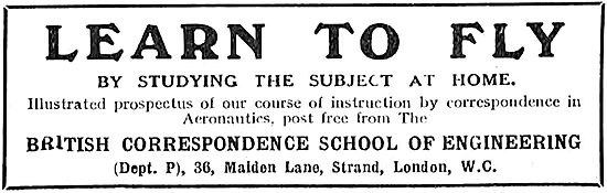 Learn To Fly - British Correspondence School Of Engineering