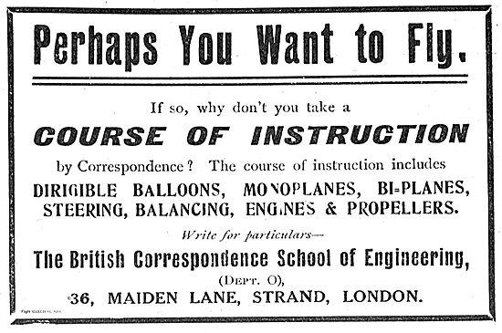 The British Correspondence School Of Engineering. 36 Maiden Lane